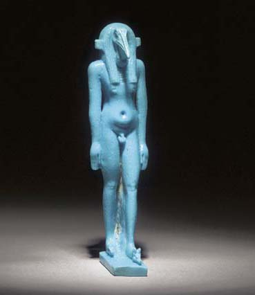 AN EGYPTIAN BRIGHT TURQUOISE '