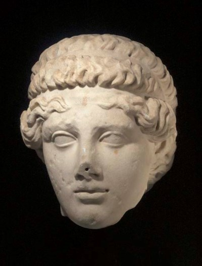 A ROMAN MARBLE IDEALISED MALE