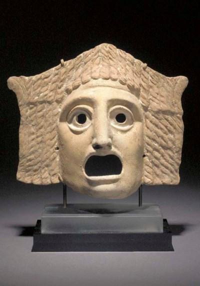 A GRAECO-ROMAN PAINTED TERRACO