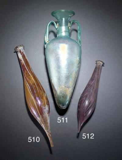 A ROMAN AUBERGINE MARBLED GLAS