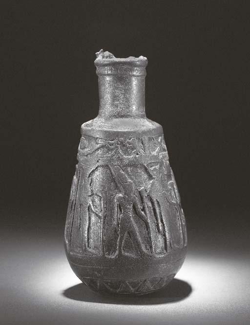 AN EGYPTIAN BRONZE SITULA