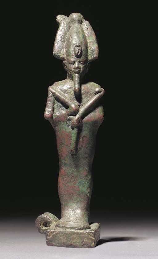 ANOTHER EGYPTIAN BRONZE FIGURE