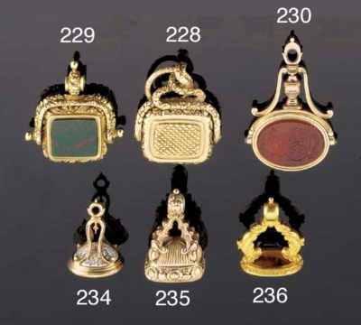 A gold fob seal