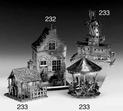 A Dutch Silver Miniature House