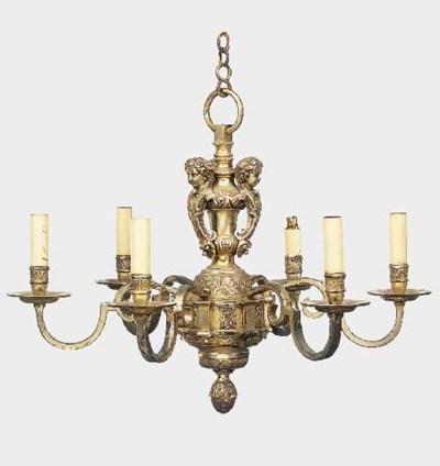 A Regence style silvered brass