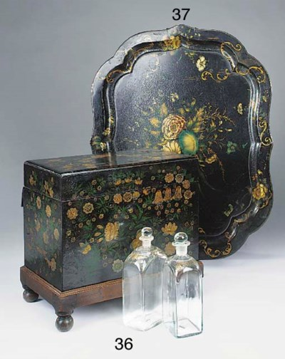 A Victorian lacquered decanter