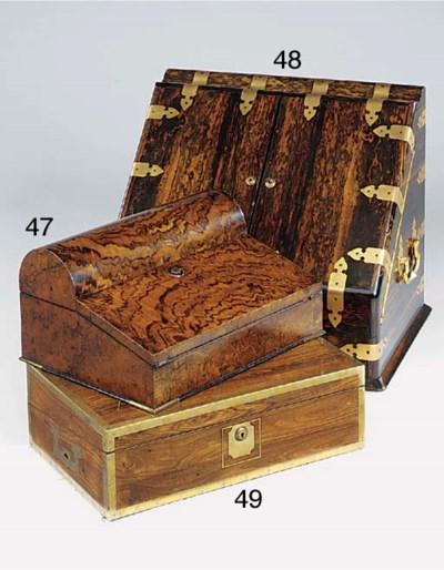 A Victorian walnut writing slo