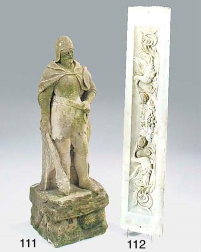 An English sculpted stone figu
