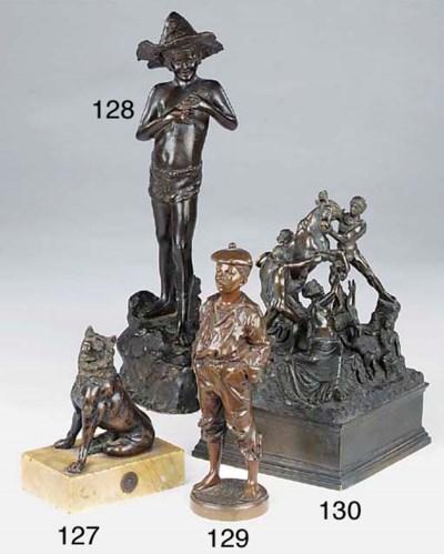 A Neapolitan patinated bronze