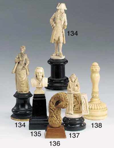 Two Dieppe carved ivory figure
