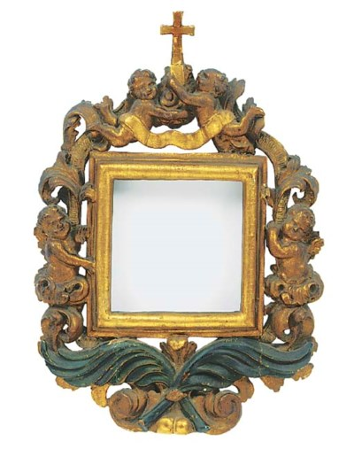 A Continental carved, gilded a
