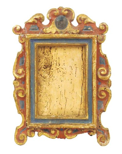 An Italian carved, gilded and