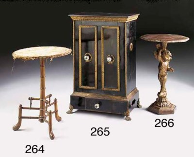A giltwood pedestal table, 19t