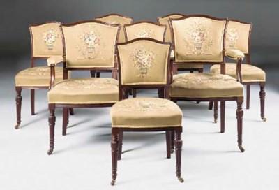 A set of eight Victorian mahog