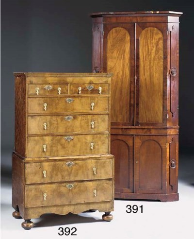 A walnut and grained chest on