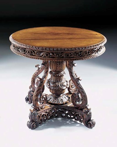 An Anglo Indian hardwood centr