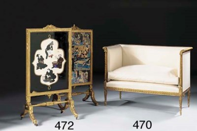 A French giltwood sofa, second