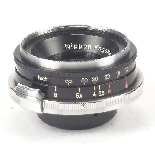 W-Nikkor f/3.5 2.8cm. no. 7168