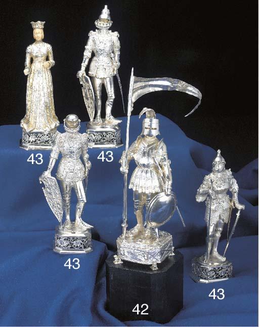 A German Silver Figure of St.