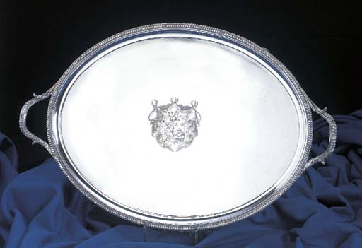 A George III oval tray