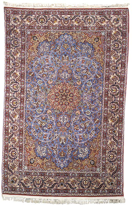 A pair of very fine Isfahan ru