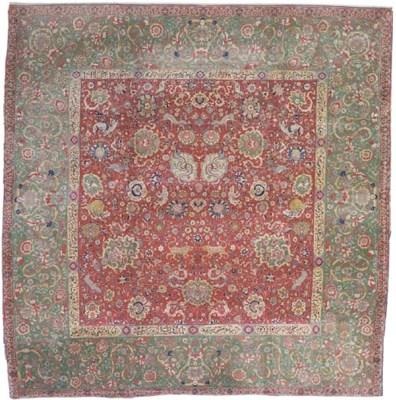 An unusual Indo-Tabriz carpet