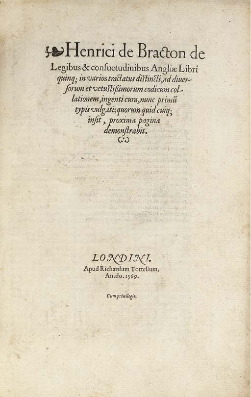 BRACTON, Henry de (d. 1268).