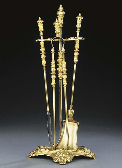 A set of French gilt metal fir