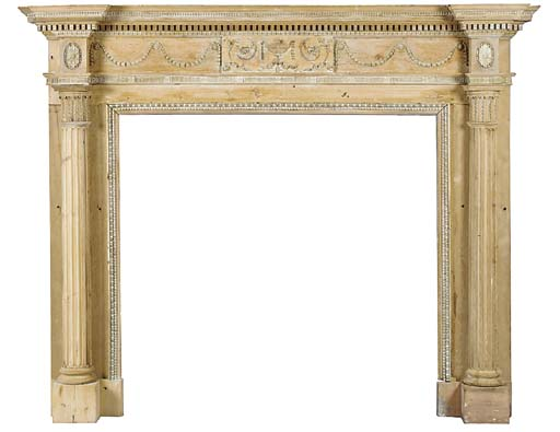 A large George III carved pine
