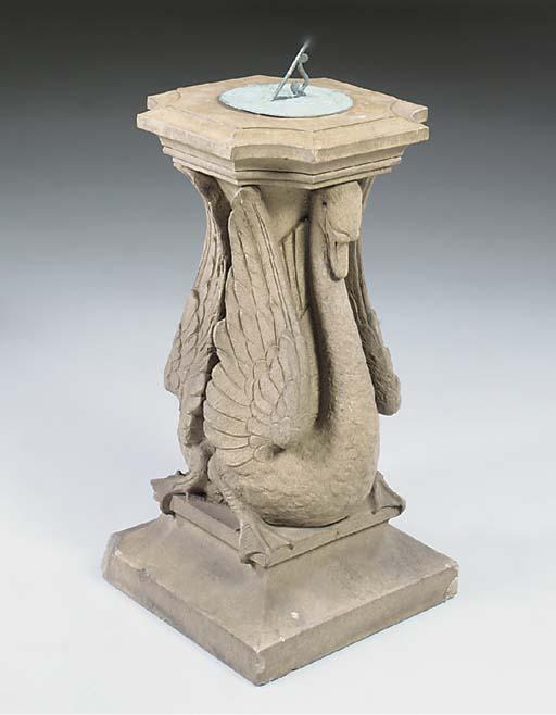 A terracotta pedestal and copp