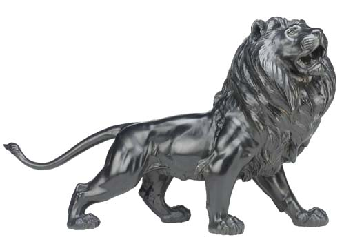 A bronze model of a prowling l