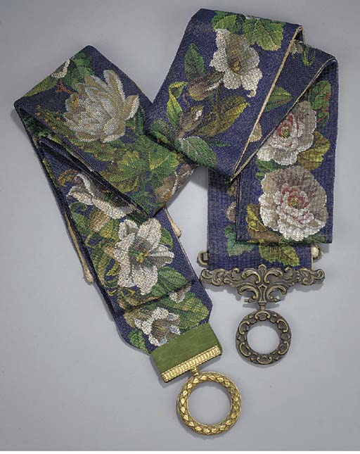 Two Victorian beadwork and met