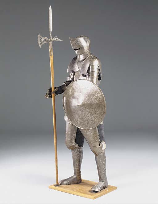 A steel suit of armour, 20th c