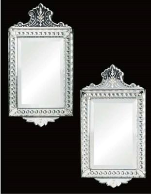 A pair of Venetian mirrors, ci