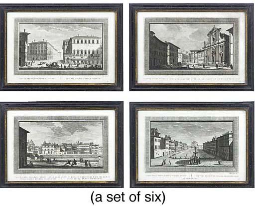 Six Italian engravings of pala