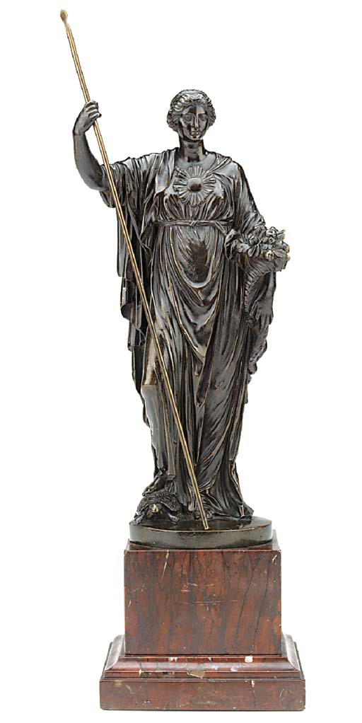 An Italian bronze of Ceres or