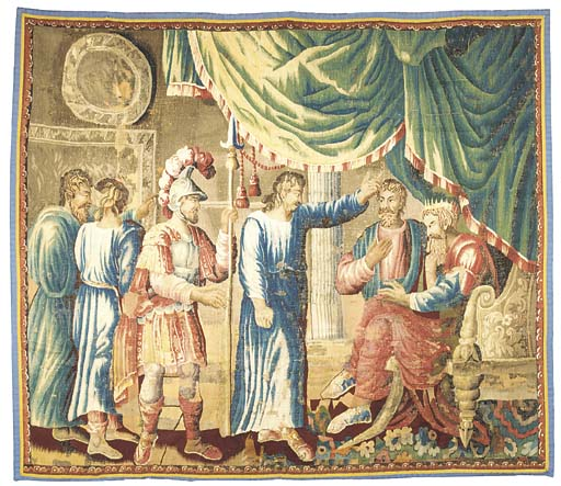 AN AUBUSSON BIBLICAL TAPESTRY,