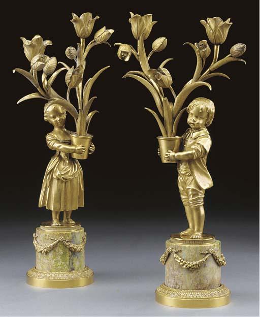 A pair of late Louis XVI ormol
