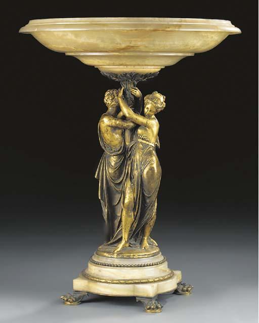 A French gilt bronze mounted o