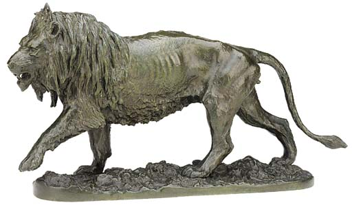 A French bronze model of a lio