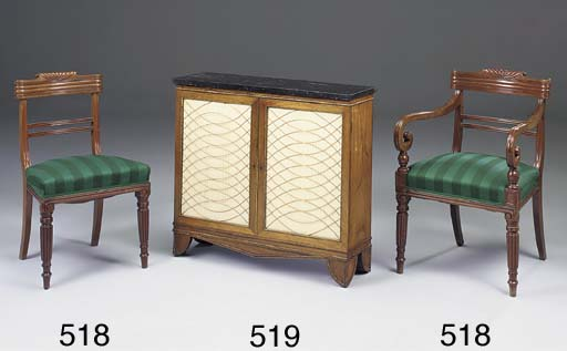 A REGENCY ROSEWOOD AND BRASS M