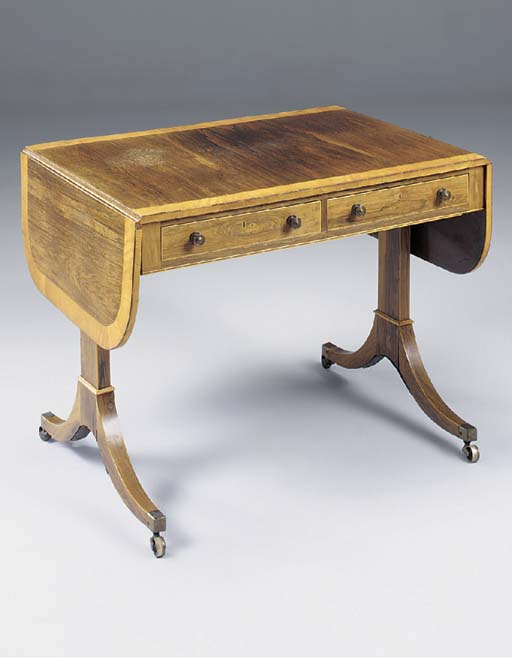 A REGENCY ROSEWOOD SATINWOOD C