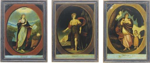 Three George III mezzotints un
