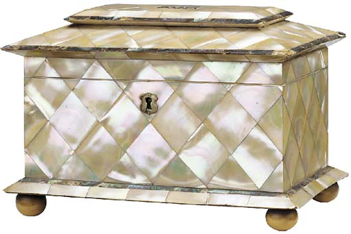 A Regency mother-of-pearl and