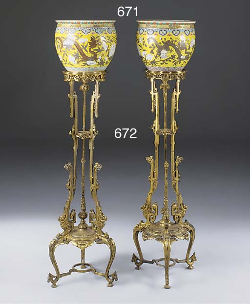 A PAIR OF FRENCH ORMOLU TORCHE