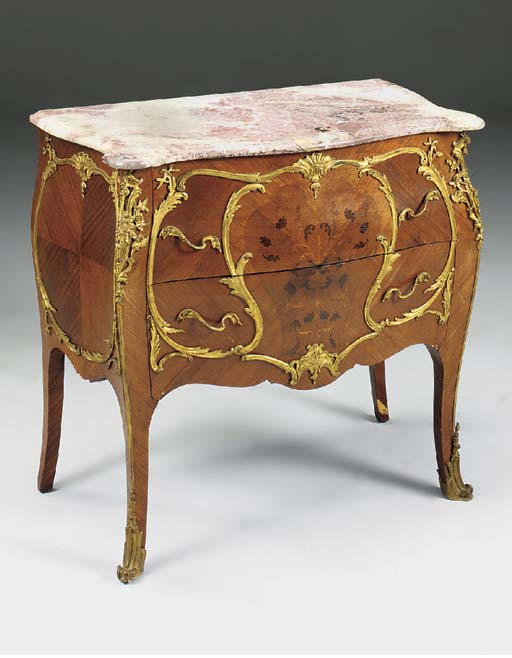 A FRENCH KINGWOOD MARQUETRY OR