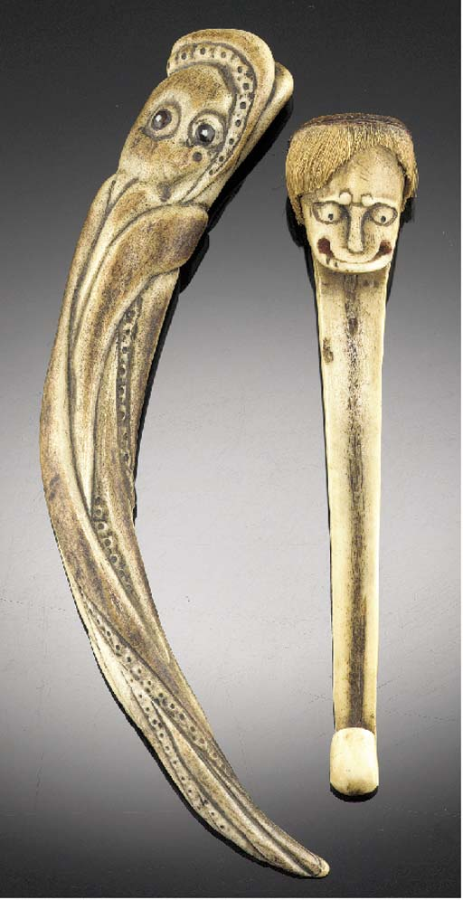 A staghorn netsuke 19th Centur