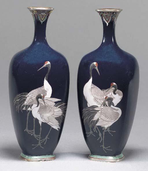 A pair of cloisonne vases Meij