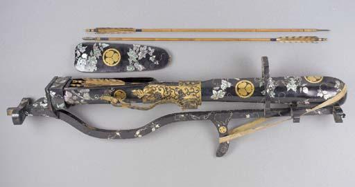 A lacquered quiver 19th Centur