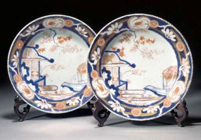 A pair of Imari plates Edo Per